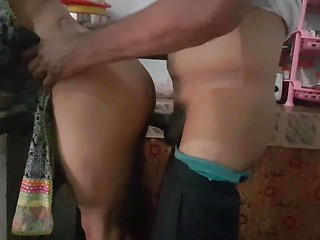 Desi Couple Real Fucking In Kitchen Room
